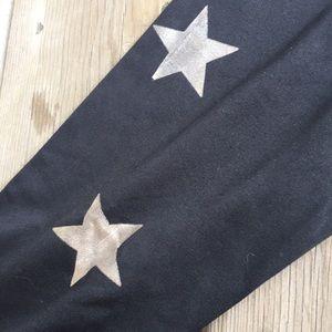ae94963f90589 Jessica Simpson Pants - Jessica Simpson Workout Leggings Black Stars Large